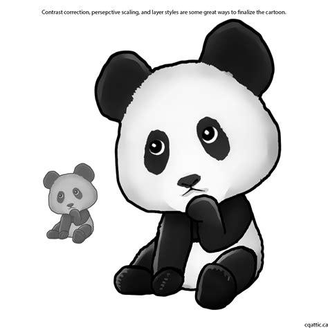 drawing cute cartoon animals  photoshop