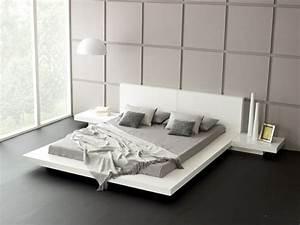 Tete De Lit Moderne : lit moderne pour adulte 42 mod les sur estrade basse lits pinterest tete de lit blanche ~ Teatrodelosmanantiales.com Idées de Décoration