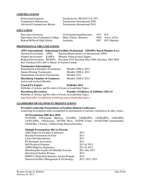 Conference Presentations On Resume by Where Do You Put Conference Presentations On A Resume