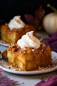 pumpkin bread pudding cooking