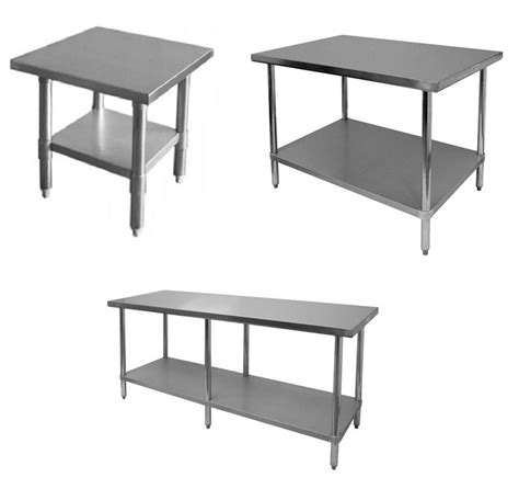 commercial stainless steel kitchen work prep table nsf