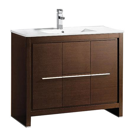 stacked kitchen cabinets allier 40 quot wenge brown modern bathroom cabinet w sink 2457