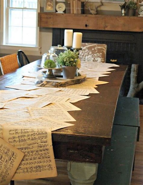 music themed table decorations easy to make romantic sheet music decorating projects diy
