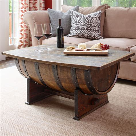 They had been sitting outside for a few years and definitely had some character. Barrel Coffee Table Wine Barrel Bar | Projecthamad