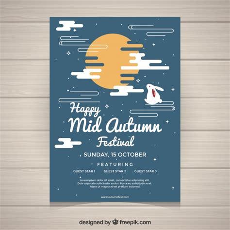 creative mid autumn festival poster vector