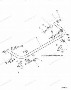 Polaris Side By Side 2016 Oem Parts Diagram For Suspension  Stabilizer Bar  Rear