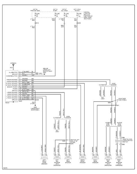 radio wiring diagram   color codes