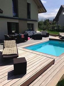 Piscine Avec Terrasse Bois : la terrasse mobile de piscine notre avis ~ Nature-et-papiers.com Idées de Décoration