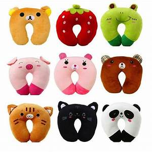 Kawaii Neck Support Pillow Cushion Baby Animal Faces