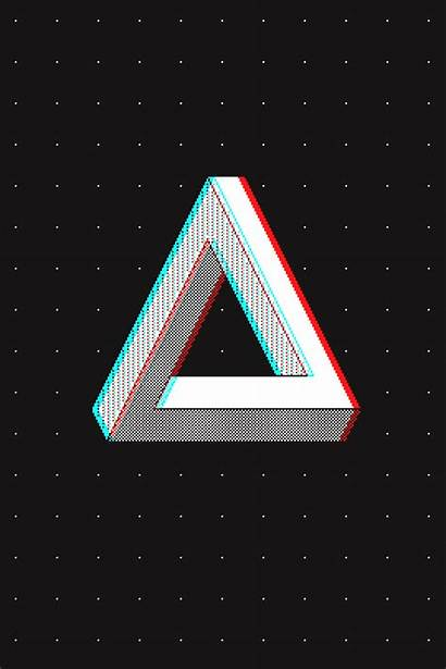 Triangle 3d Penrose Cyan Glasses Effect Mazeon