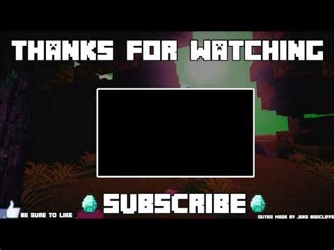 Free Minecraft Outro Template Youtube