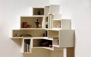 box shelving creating purposeful wall art With out of the box corner wall shelves