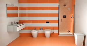 Salle De Bain Orange : carrelage salle de bain orange ~ Preciouscoupons.com Idées de Décoration