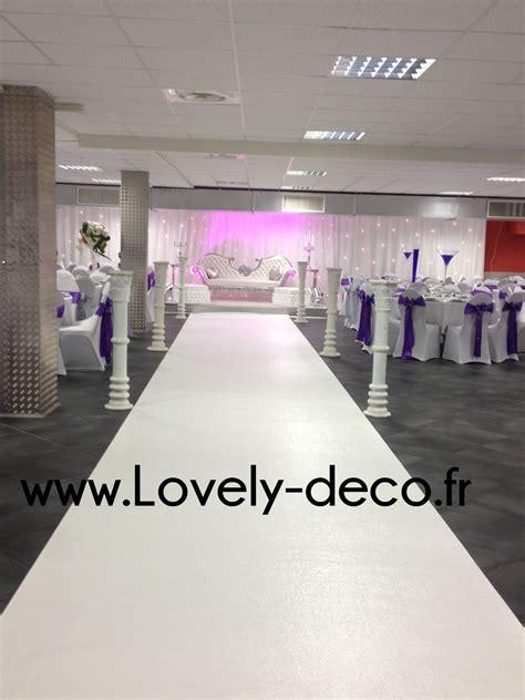 tapis blanc ou tapis pour mariage