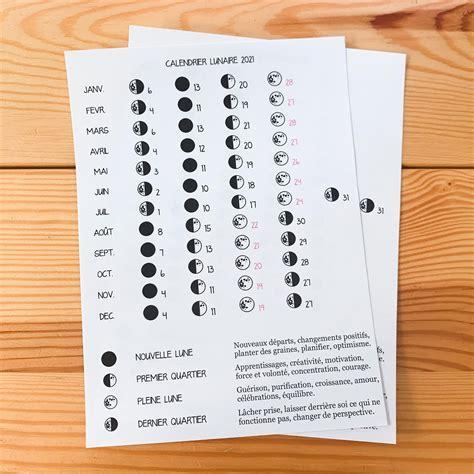 sticker pleine page calendrier lunaire