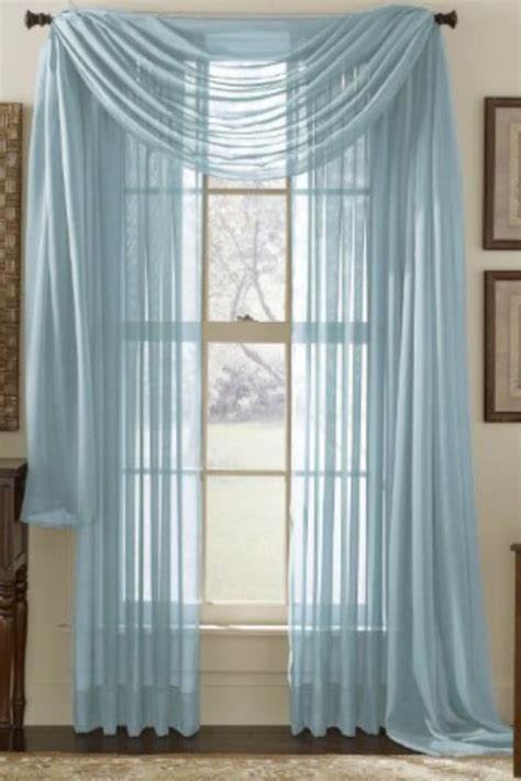 sheer blue voile curtains curtains pinterest voile