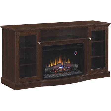 walmart fireplace tv stand chimneyfree media electric fireplace for tvs up to 65