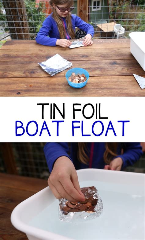 Floating Tin Foil Boat by Tin Foil Boat Float Mama Papa Bubba