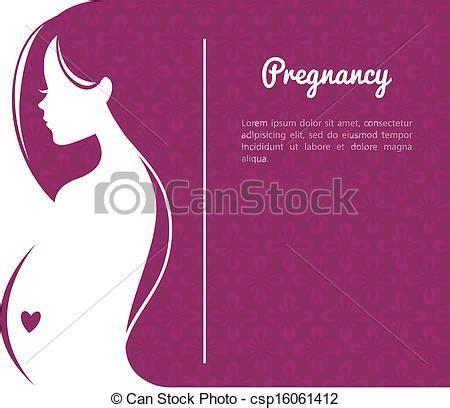 vector illustration  pregnant womans silhouette vector
