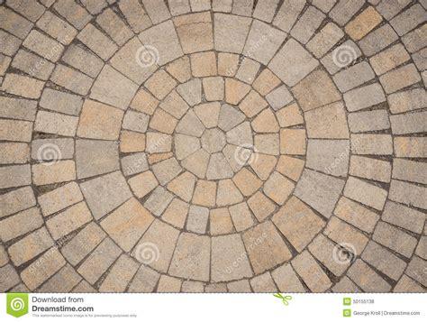 circular paving patterns circular paving stone pattern stock photo image 50155138