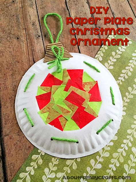 paper plate christmas ornament decoration  family