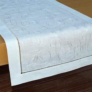 Chemin De Table Design : chemin de table blanc ~ Teatrodelosmanantiales.com Idées de Décoration