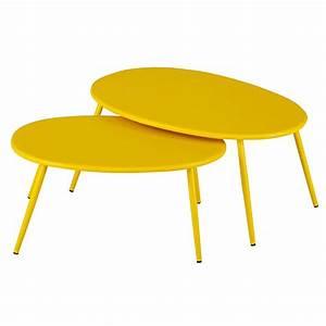 Table Gigogne Maison Du Monde : tables gigognes de jardin en m tal jaune lumpa maisons du monde ~ Teatrodelosmanantiales.com Idées de Décoration