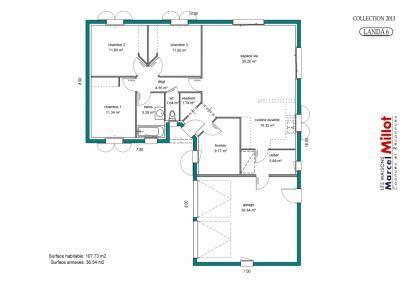 plan maison 3 chambres 1 bureau plan de maison 100m2 3 chambres plan chalet pas cher 3