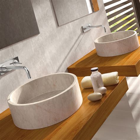 circular stone sink