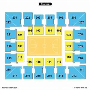 The Palestra Seating Chart