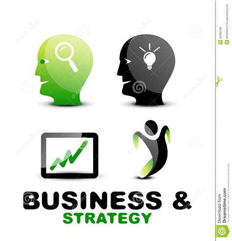 modern business  strategy icon set royalty  stock