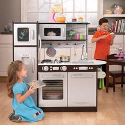 shop kidkraft uptown kitchen espresso play kitchen