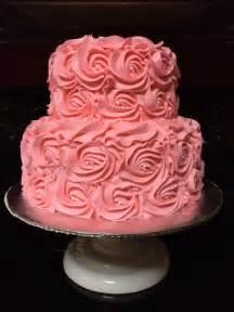 ballerina baby shower cake 2 tier pink rosette cake candi 39 s cake creations