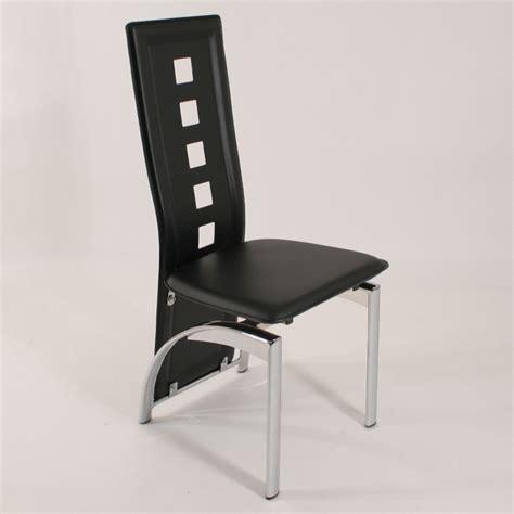chaise design noir chaise simili cuir pas cher équipement de maison