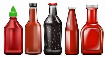 Sauce Bottle Vector Different Bottles Clipart Premium