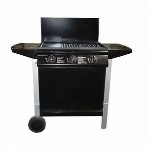 Barbecue Gaz Avec Plancha Et Grill : andaloucia barbecue gaz 3 br leurs sur chariot fonte ~ Melissatoandfro.com Idées de Décoration