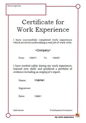 awesome collection  format  job experience certificate