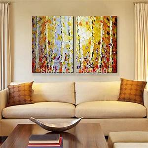 Handpainted, Modern, Home, Decor, Painting, Living, Room, Hall, Wall, Art, Picture, Thick, Colors, Tree