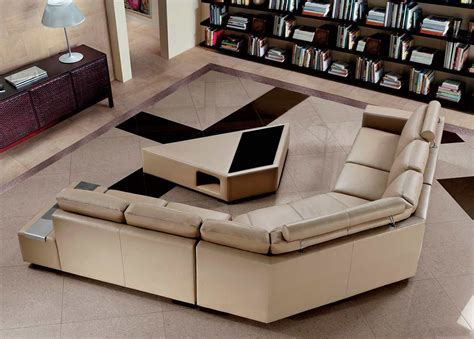 modern leather sofa  coffee table vg leather