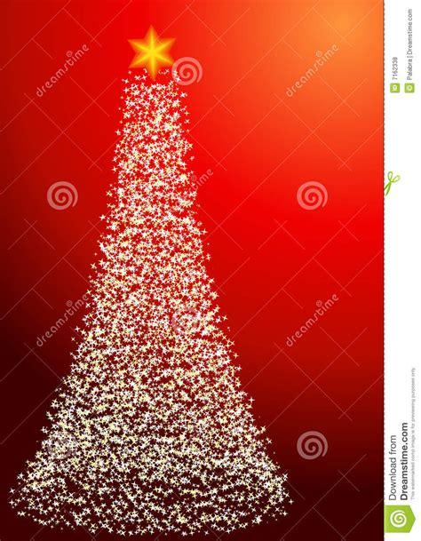 starry christmas tree portrait orientation stock vector