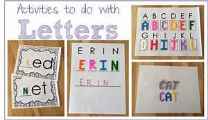 preschool ponderings using letter manipulatives in the With letter manipulatives