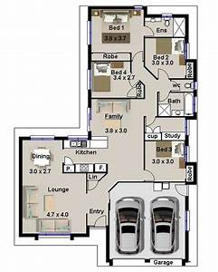 modern 4 bedroom australian narrow lot house floor plans With four bed room site plan
