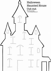 Haunted House Halloween Cut-out | Paper houses, The kid ...
