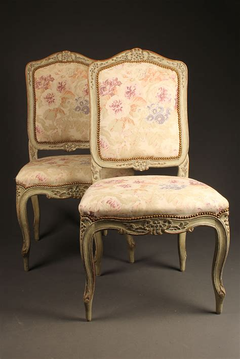 antique pair of louis xv style side chairs