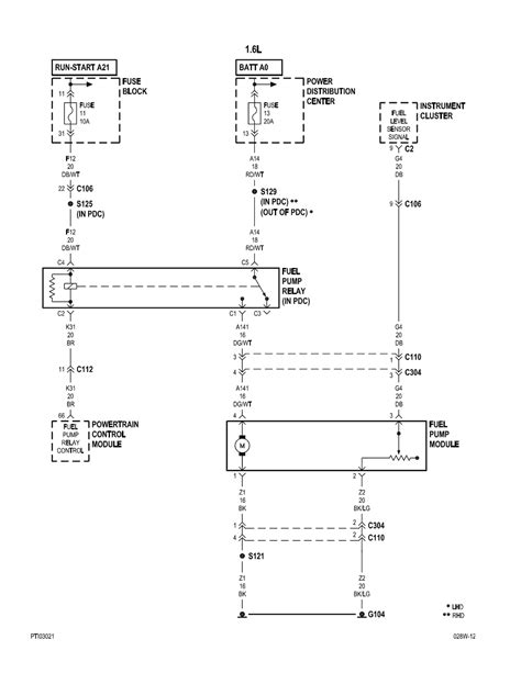 pt cruiser fuel wiring diagram 35 wiring diagram