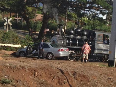 Vehicle Crashes Into Sugar Cane Train