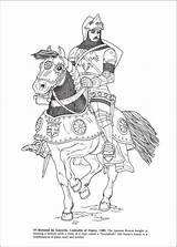 Coloring Knights Armor Colouring Medieval Ritter Caballeros Malvorlagen Knight Zentangle Horse Additional Inside Coloriage Ausmalbilder Dibujos Castillos Edad Kostenlose Middle sketch template
