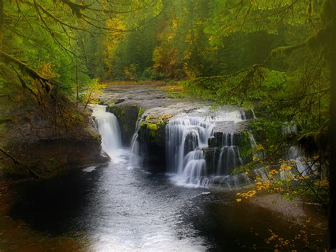 cascading waterfall hd nature  wallpapers images