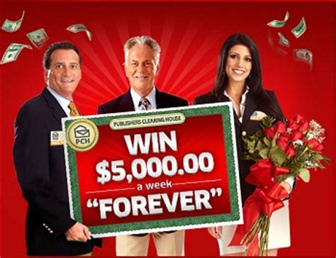 "Publishers Clearing House  Win $5,00000 A Week ""forever& Giveawayuscom"
