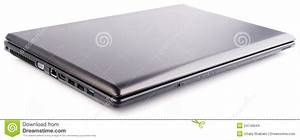 Closed Laptop Over White Stock Images - Image: 24746644